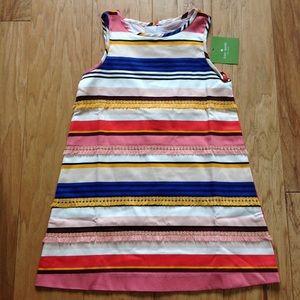 KATE SPADE DRESS NWT MULTI Color STRIPES FRINGE 4Y